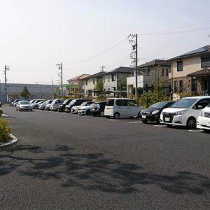駐車場完備!車でのお越しが便利です。